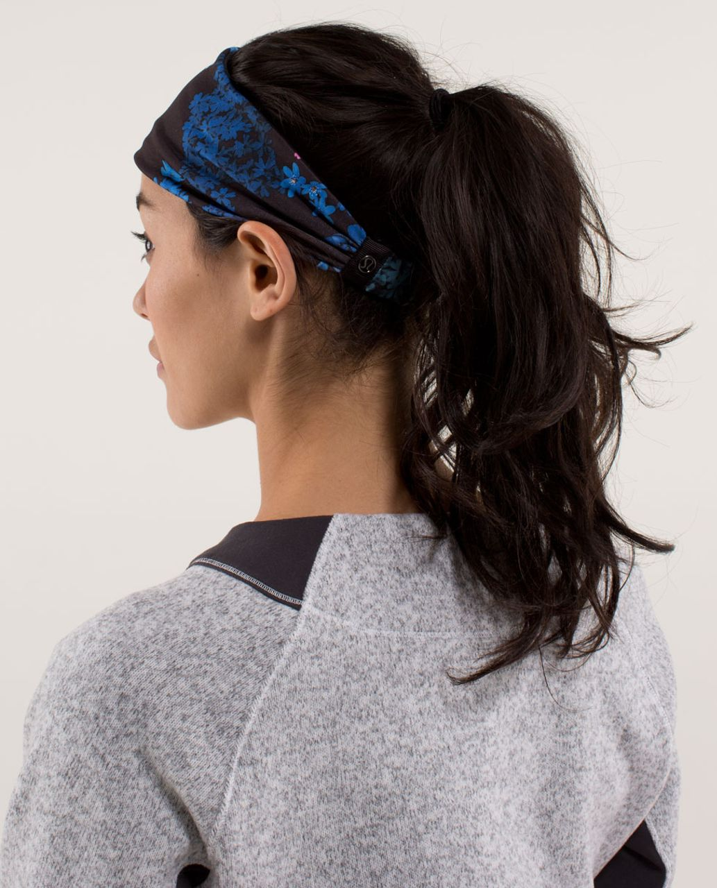 Lululemon Bang Buster Headband *Reversible - Petal Pop Multi / Black