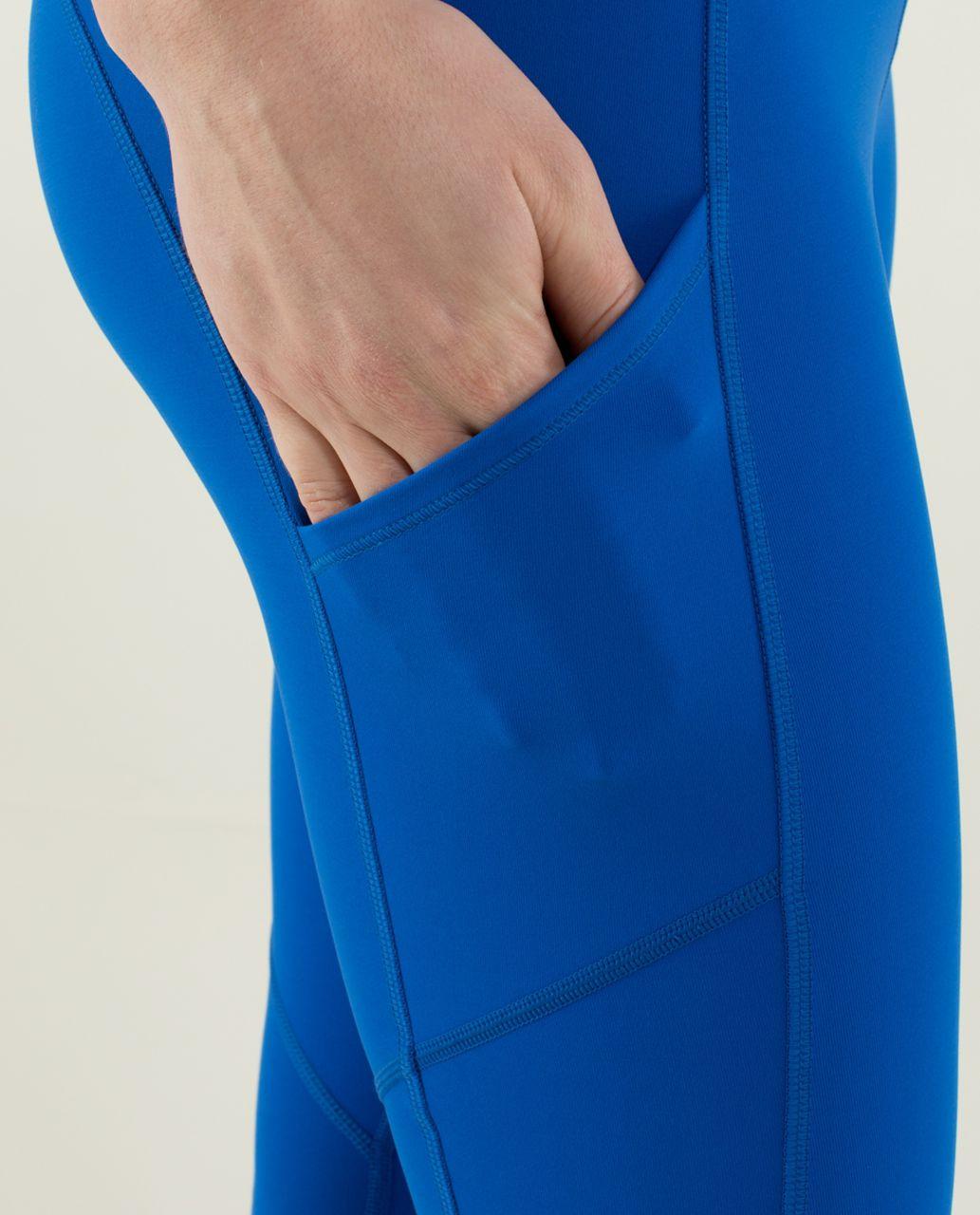 Lululemon Speed Tight *Brushed Interlock - Baroque Blue / Mini Hyper Stripe Baroque Blue