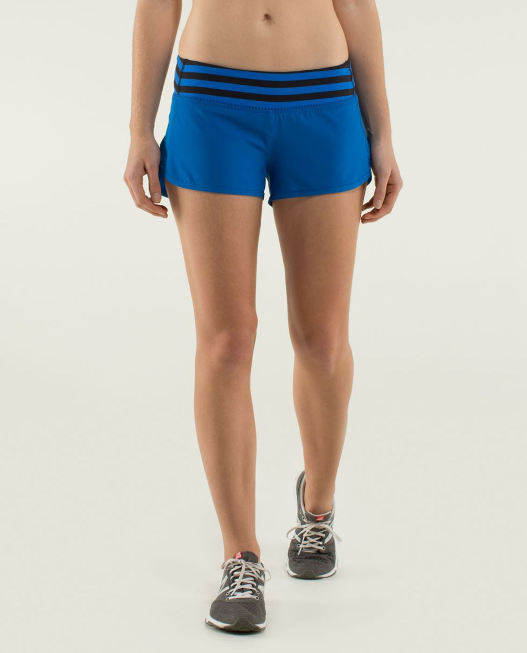 Lululemon Run:  Speed Short *4-way Stretch - Baroque Blue / Apex Stripe Baroque Blue