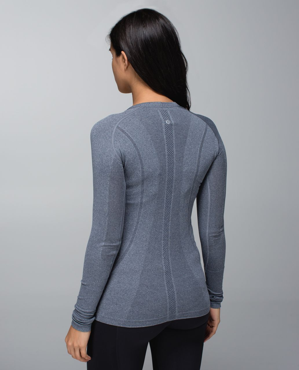 Lululemon Run:  Swiftly Tech Long Sleeve *Printed - Heathered Inkwell