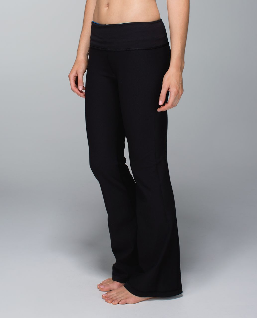 Lululemon Groove Pant (Tall) *Full-On Luon - Black / Quilt Winter 13-18