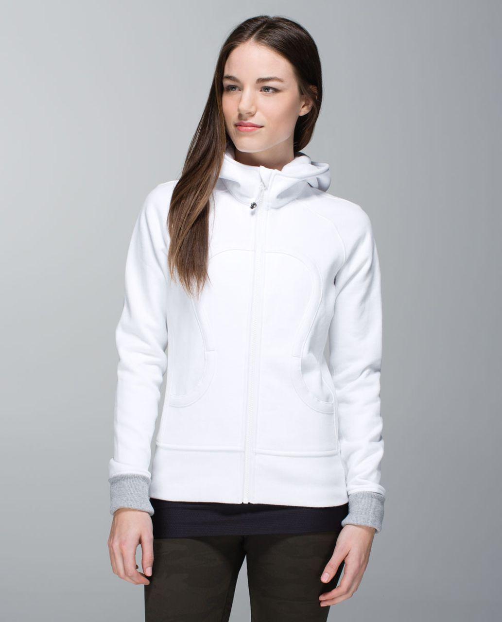 Lululemon Scuba Hoodie *Stretch (Lined Hood) - White / White / White / Wee Stripe White Heathered Medium Grey