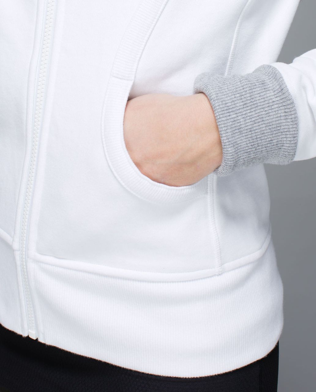 Lululemon Scuba Hoodie *Stretch (Lined Hood) - White / White / White / Wee Stripe White Heathered Medium Grey