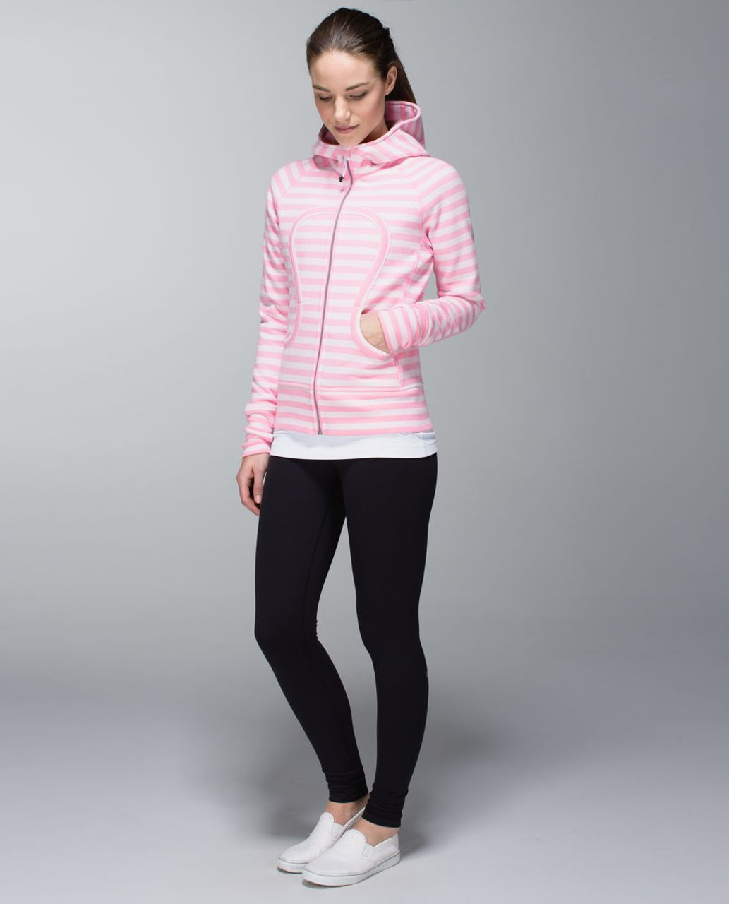 Lululemon Scuba Hoodie *Stretch (Lined Hood) - Apex Stripe Pink Shell / Powdered Rose / Apex Stripe Pink Shell