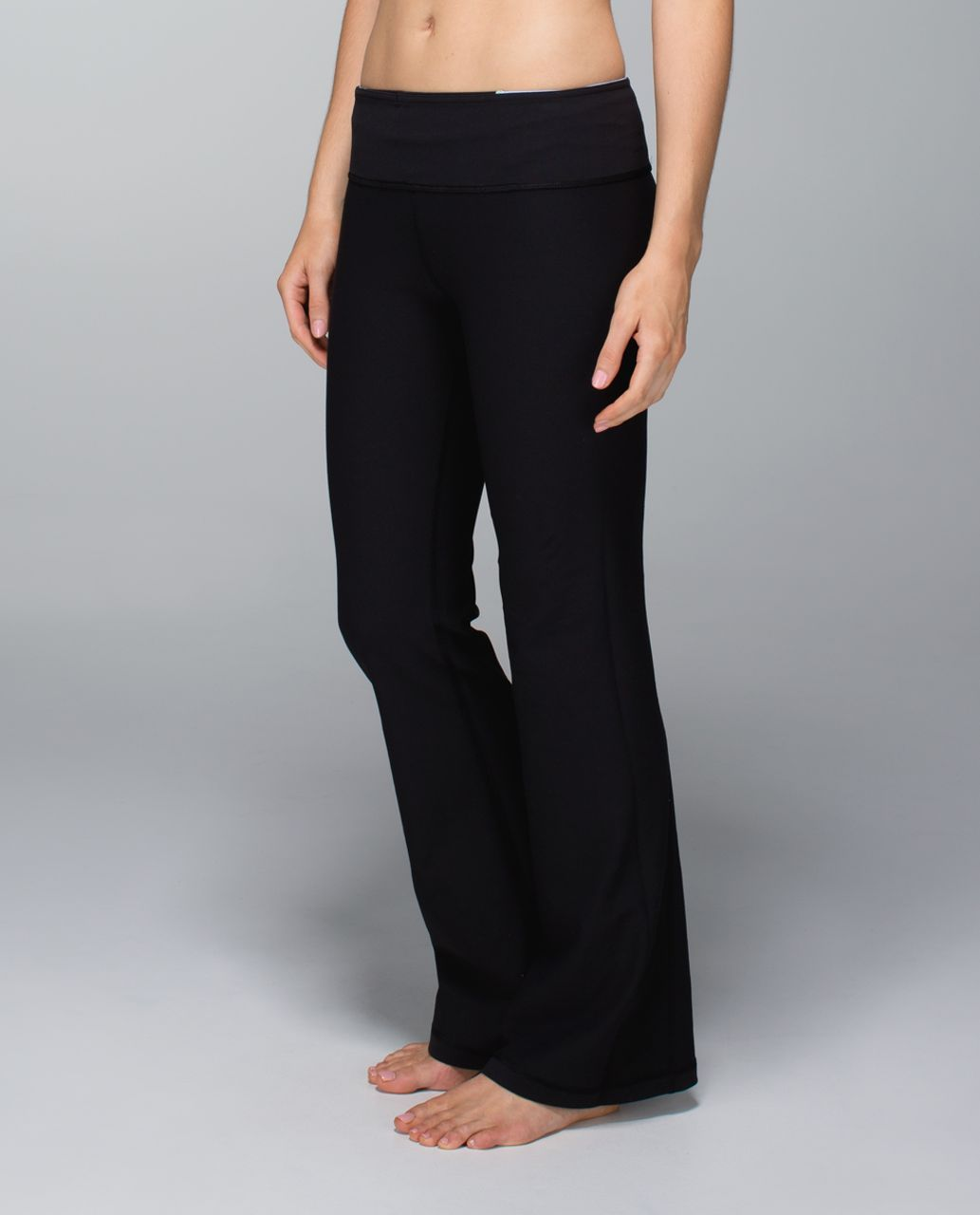 Lululemon Groove Pant (Regular) *Full-On Luon - Black / Quilt Winter 13-17