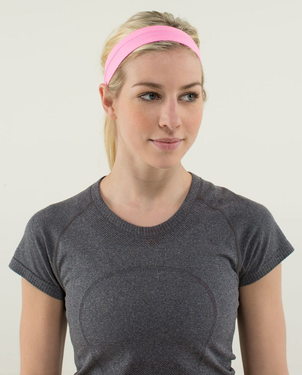 Lululemon Swiftly Headband - Heathered Zing Pink Light