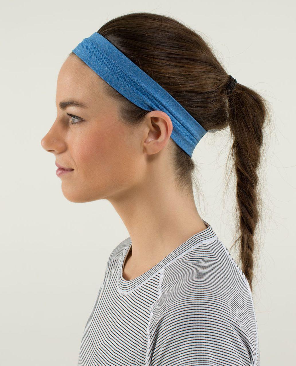 Lululemon Swiftly Headband - Heathered Baroque Blue