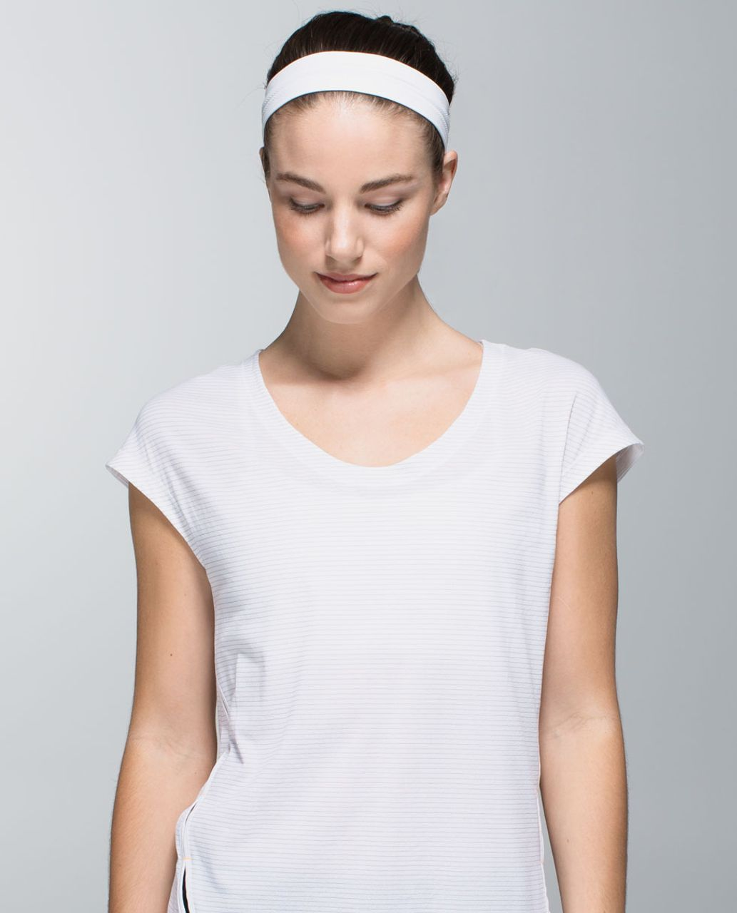 Lululemon Swiftly Headband - Heathered White - lulu fanatics 973c3130266