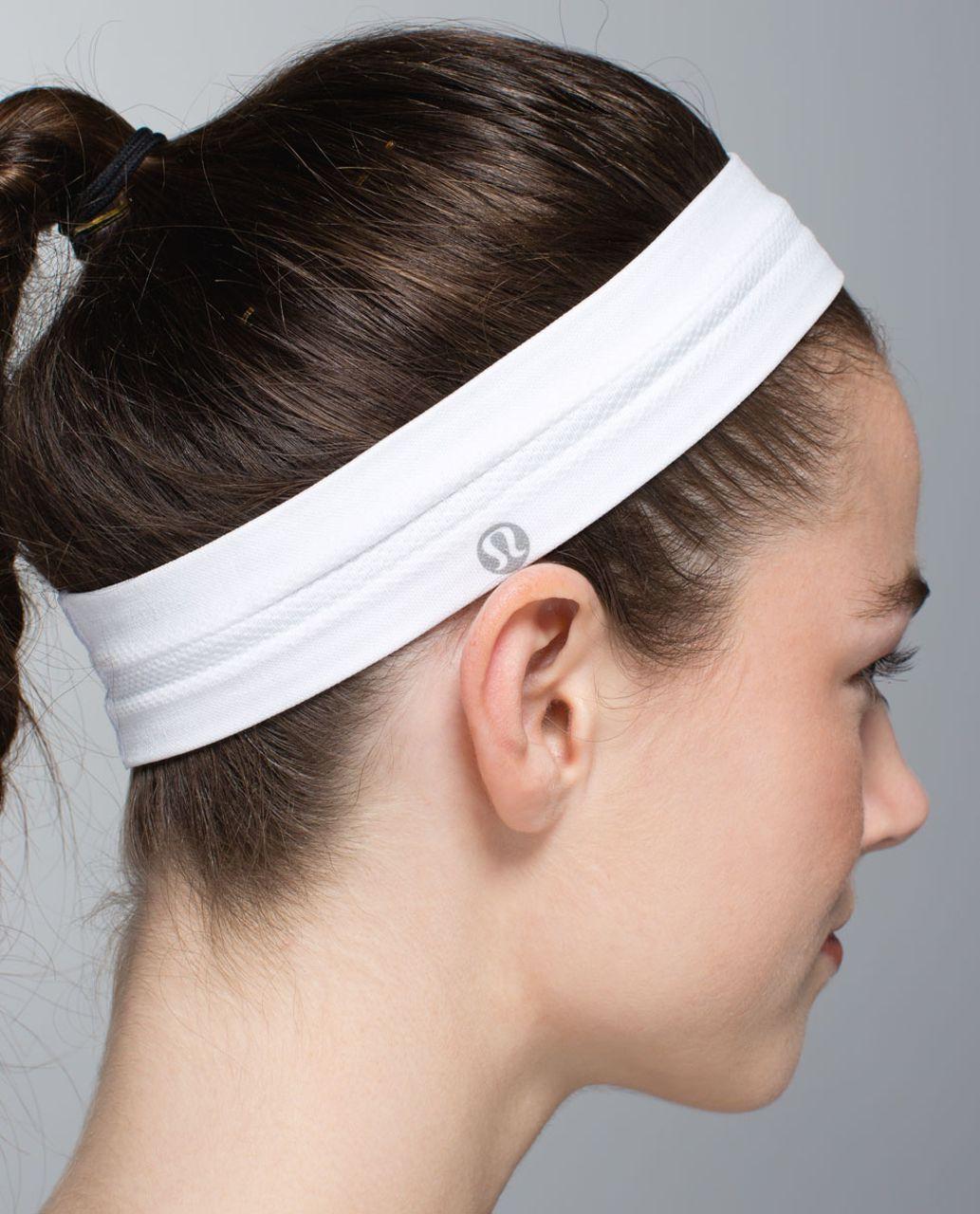 Lululemon Swiftly Headband - Heathered White