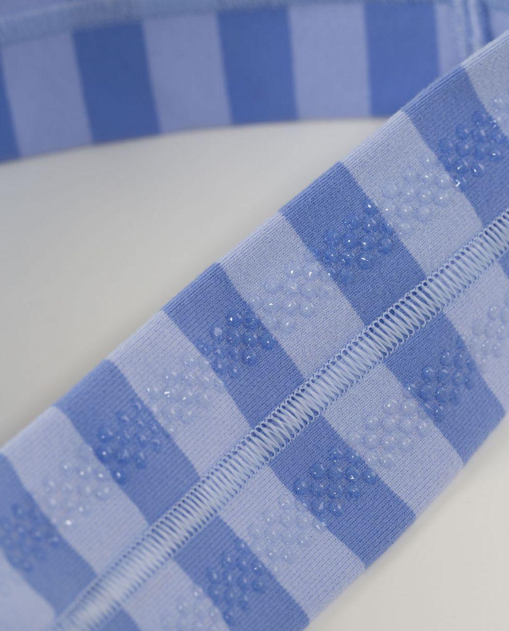 Lululemon Fly Away Tamer Headband - Apex Stripe Lavender Dusk