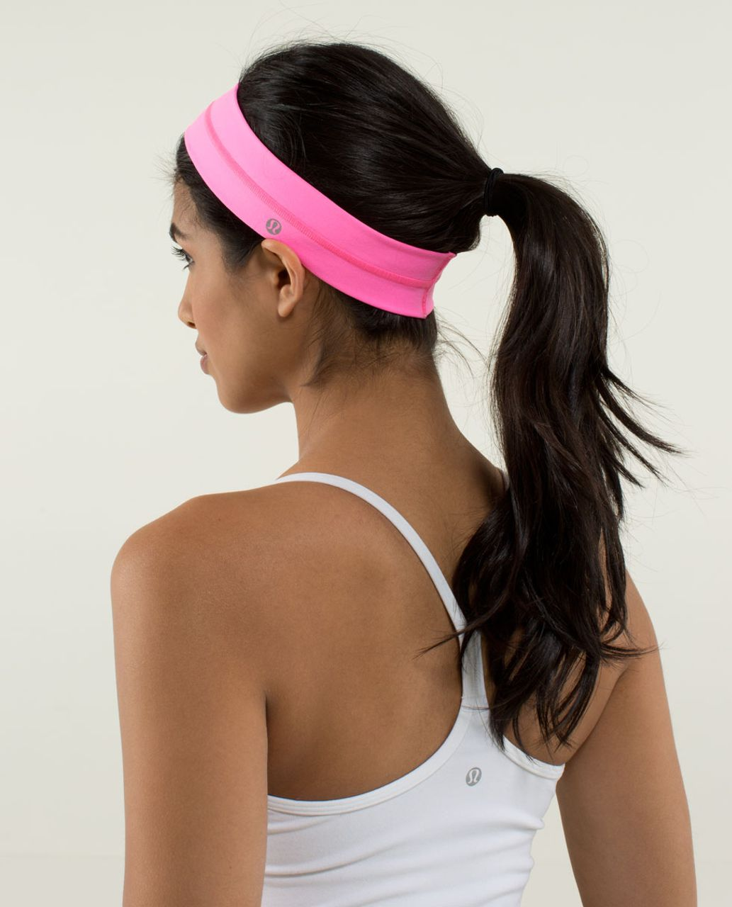 Lululemon Fly Away Tamer Headband - Zing Pink Light