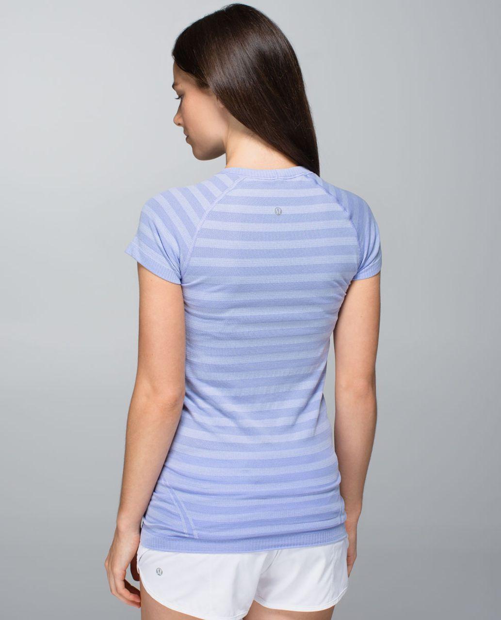 Lululemon Run:  Swiftly Tech Short Sleeve *Stripe - Heathered Lavender Dusk