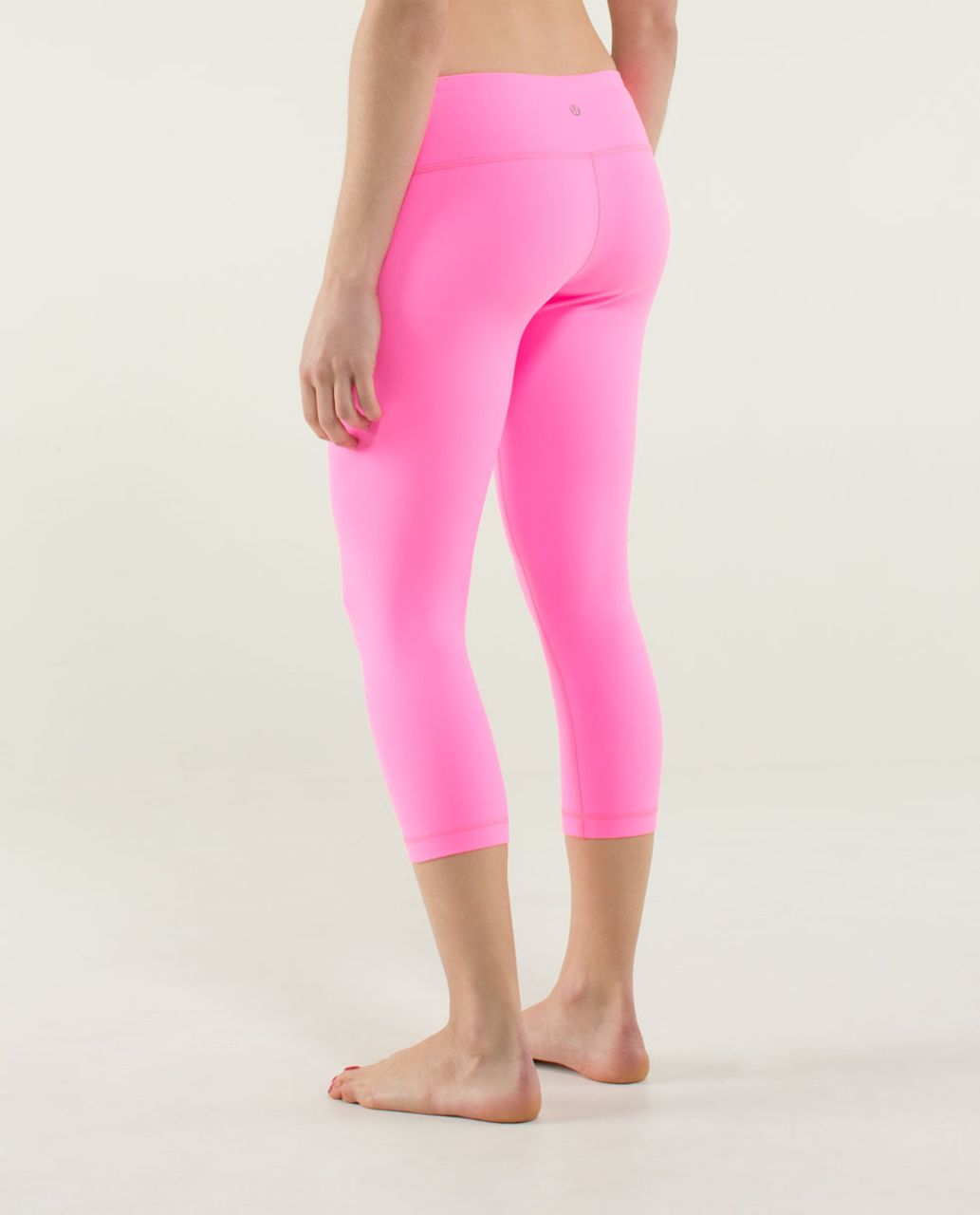 Lululemon Wunder Under Crop *Full-On Luon - Zing Pink Light