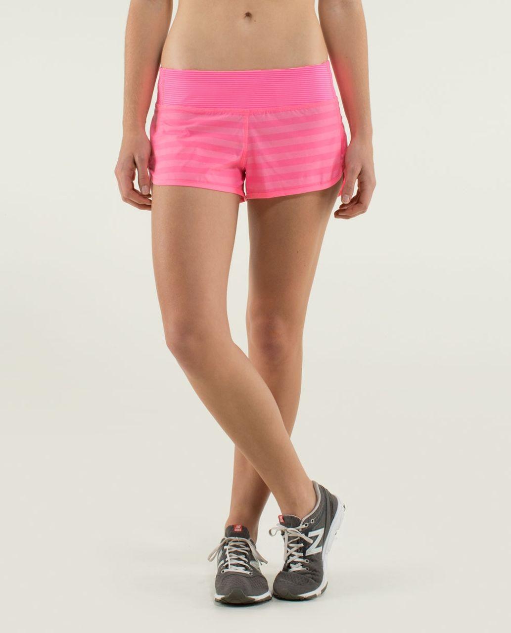 Lululemon Run:  Speed Short *2-way Stretch - Apex Stripe Zing Pink Light / Zing Pink Light / Mini Hyper Stripe Zing Pink Light