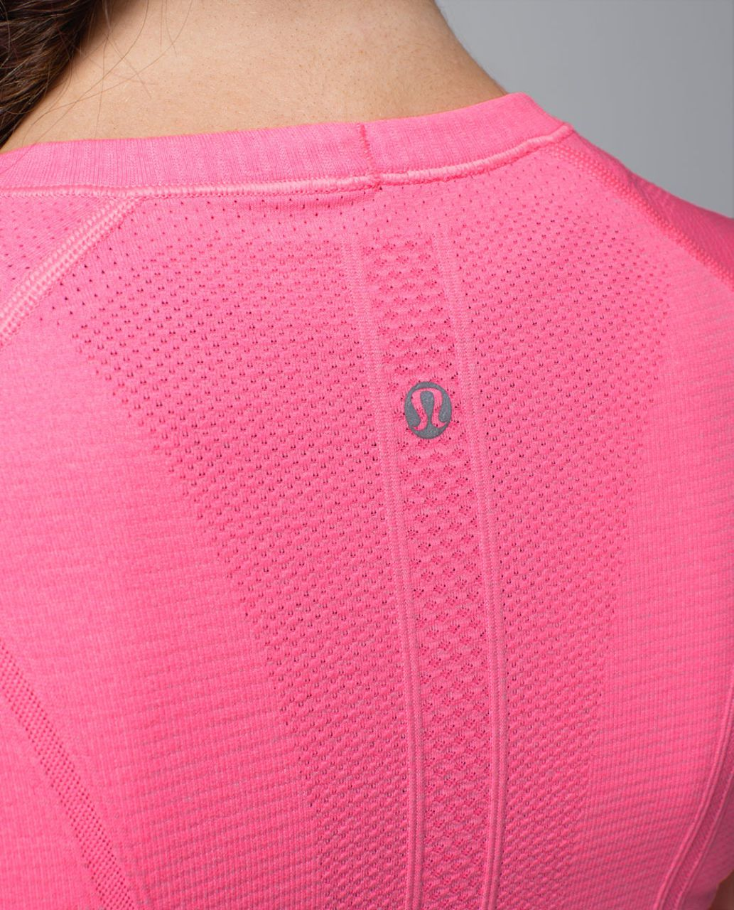 Lululemon Run:  Swiftly Tech Short Sleeve - Heathered Zing Pink Light