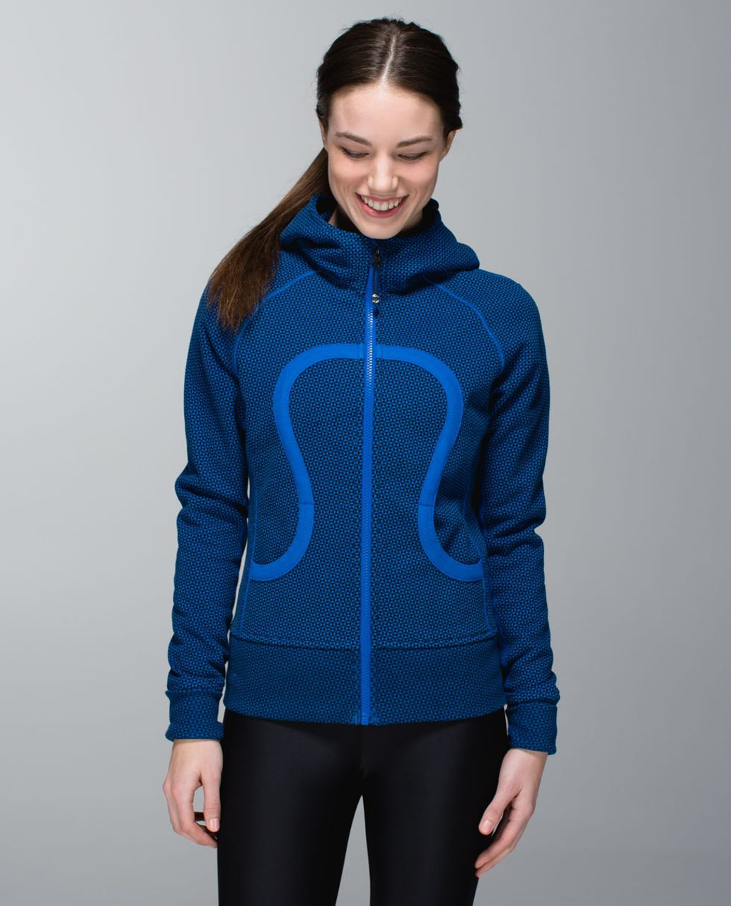 Lululemon Scuba Hoodie *Stretch (Lined Hood) - Double Diamond Baroque Blue / Baroque Blue / Double Diamond Baroque Blue