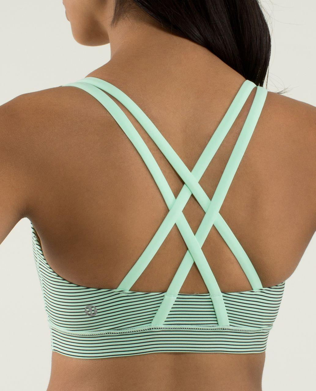 Lululemon Energy Bra - Mini Hyper Stripe Fresh Teal / Fresh Teal