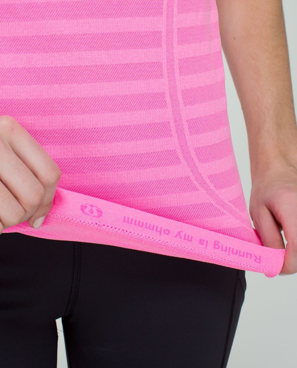 Lululemon Run:  Swiftly Tech Racerback *Stripe - Heathered Zing Pink Light