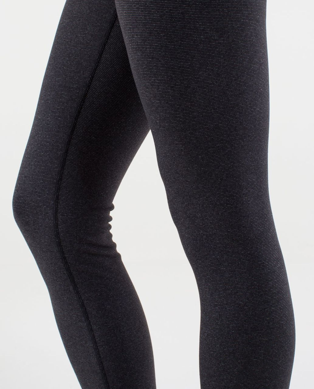 Lululemon Wunder Under Pant - Wee Stripe Black Heathered Black /  Black