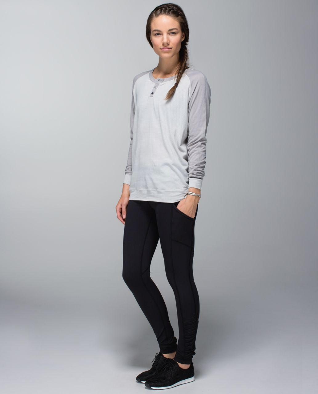 Lululemon Speed Tight *Interlock - Black / Quilt Winter 13-26