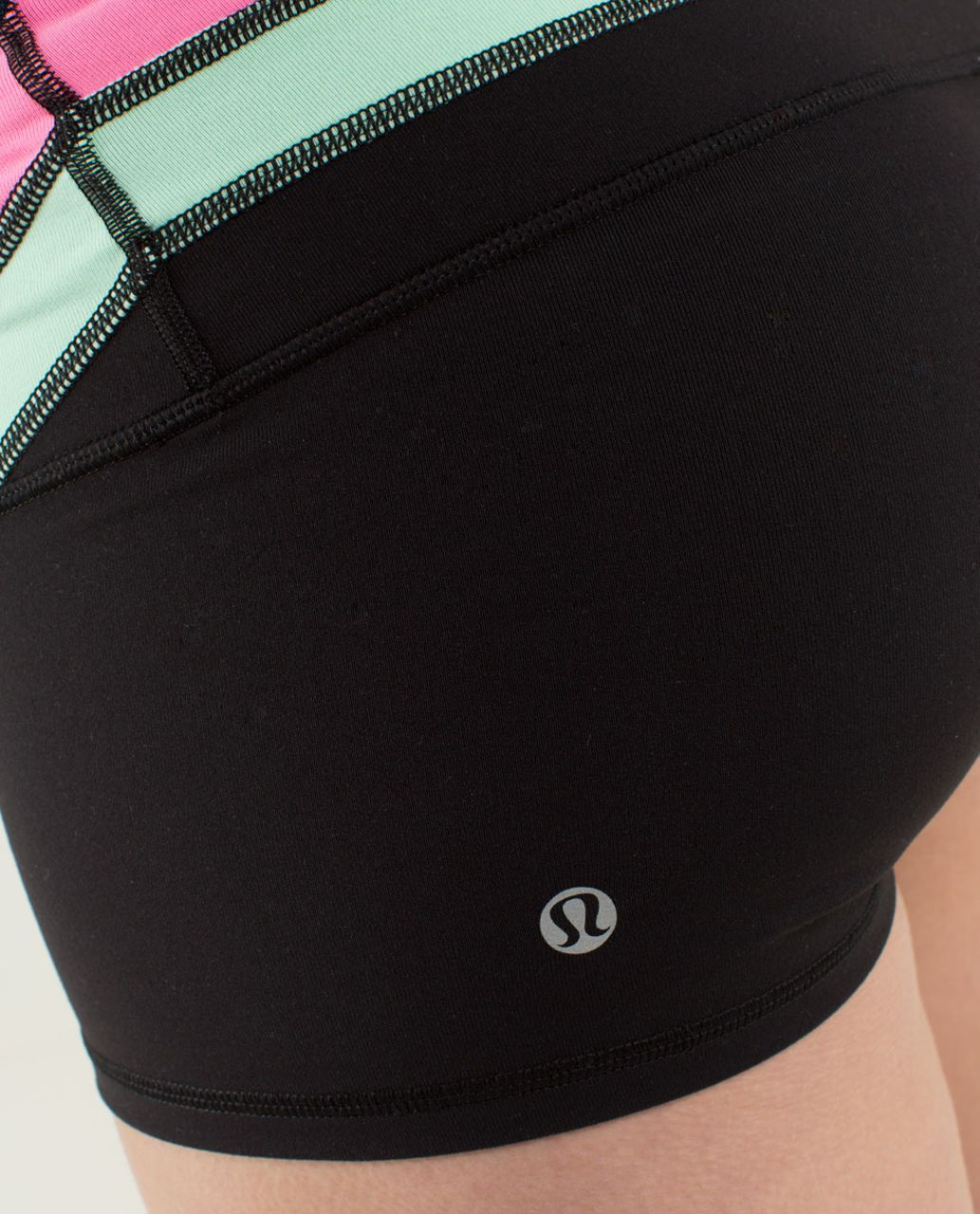 Lululemon Boogie Short *Full-On Luon - Black / Quilt Winter 13-16