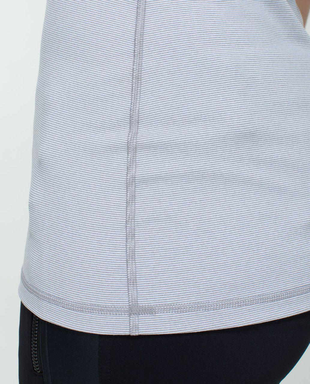 Lululemon Power Y Tank *Luon - Wee Stripe White Heathered Medium Grey