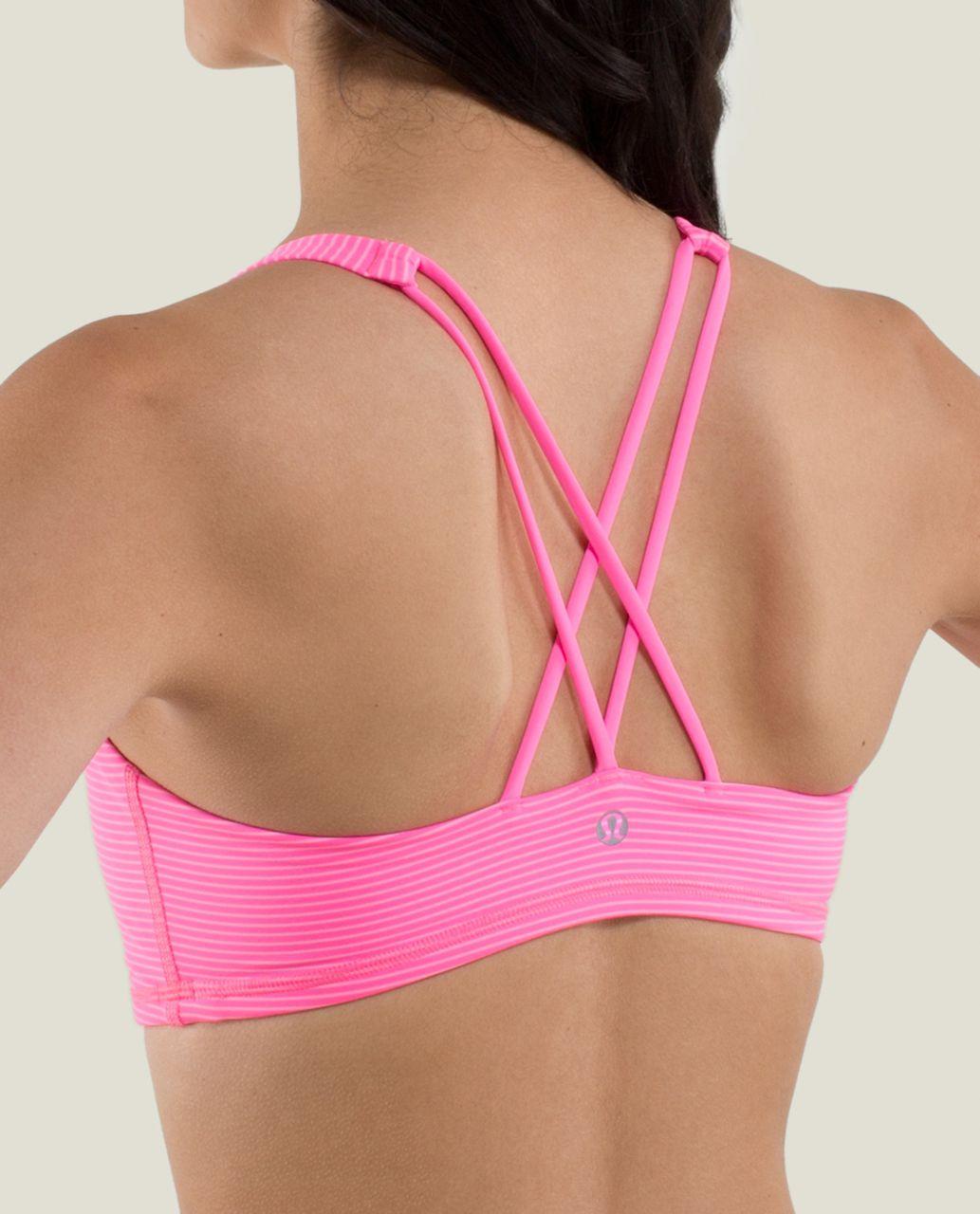 Lululemon Free To Be Bra - Mini Hyper Stripe Zing Pink Light / Zing Pink Light