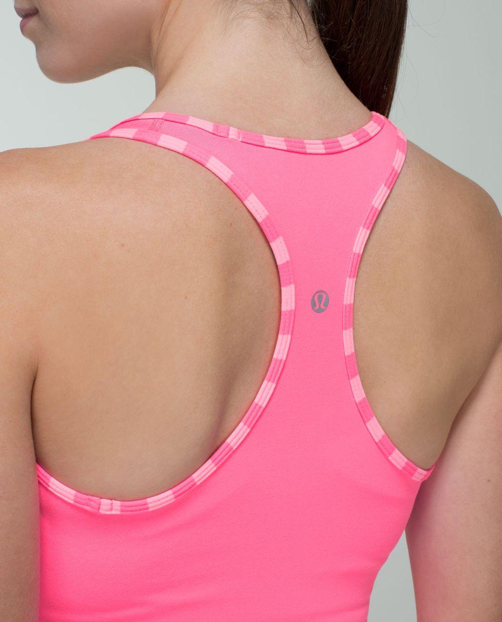 Lululemon Cool Racerback - Zing Pink Light / Apex Stripe Zing Pink Light