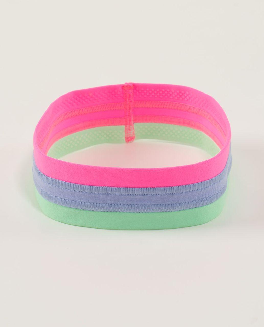 Lululemon Fly Away Tamer *Quilt - Zing Pink Light / Lavender Dusk / Fresh Teal