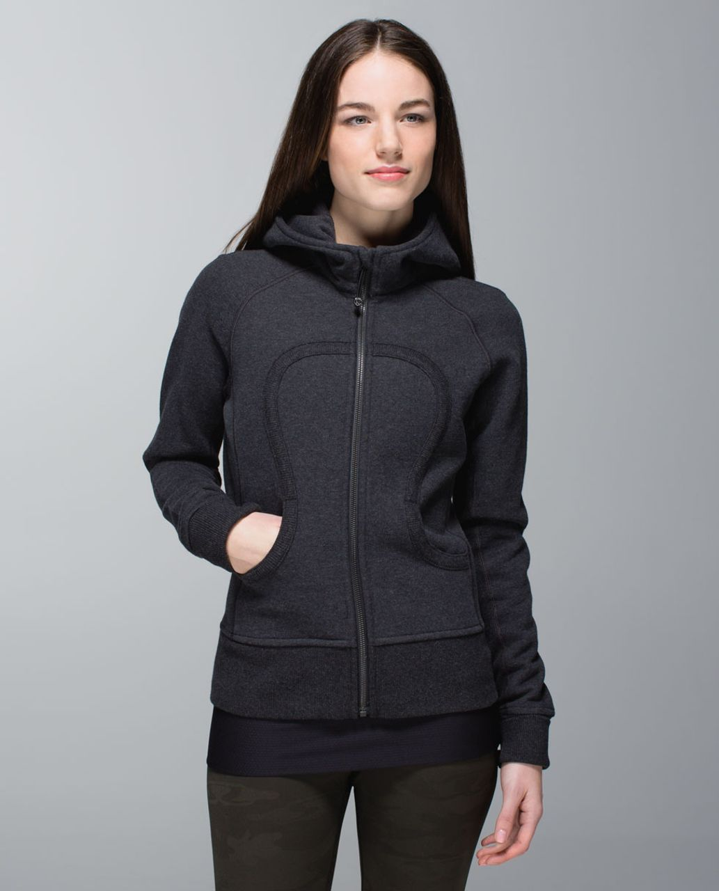 Lululemon Scuba Hoodie *Stretch (Lined Hood) - Heathered Black / Soot Light / Heathered Black