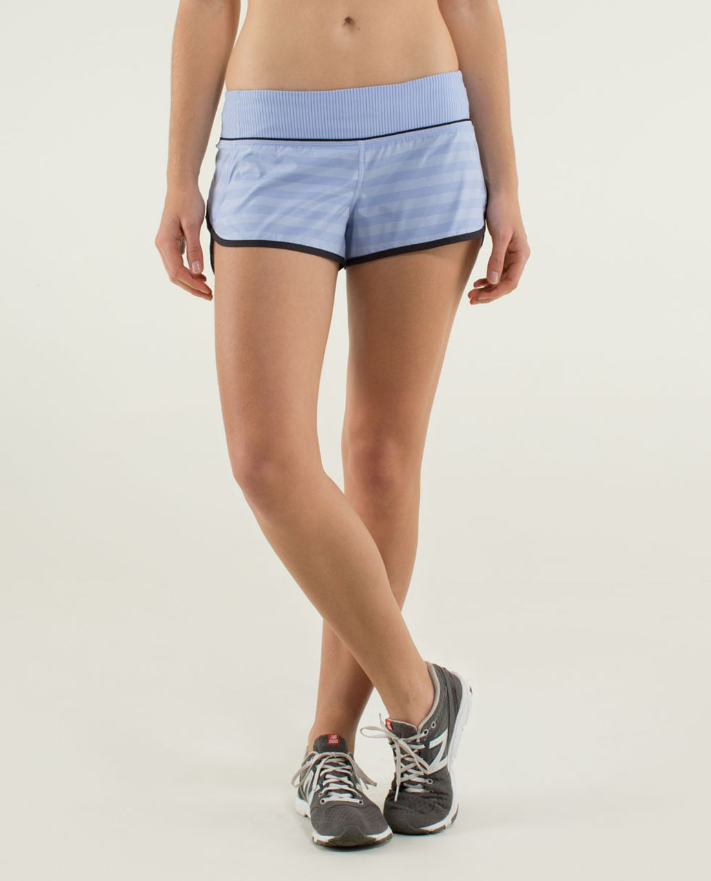 Lululemon Run:  Speed Short *2-way Stretch - Apex Stripe Lavender Dusk / Mini Hyper Stripe Lavender Dusk / Black