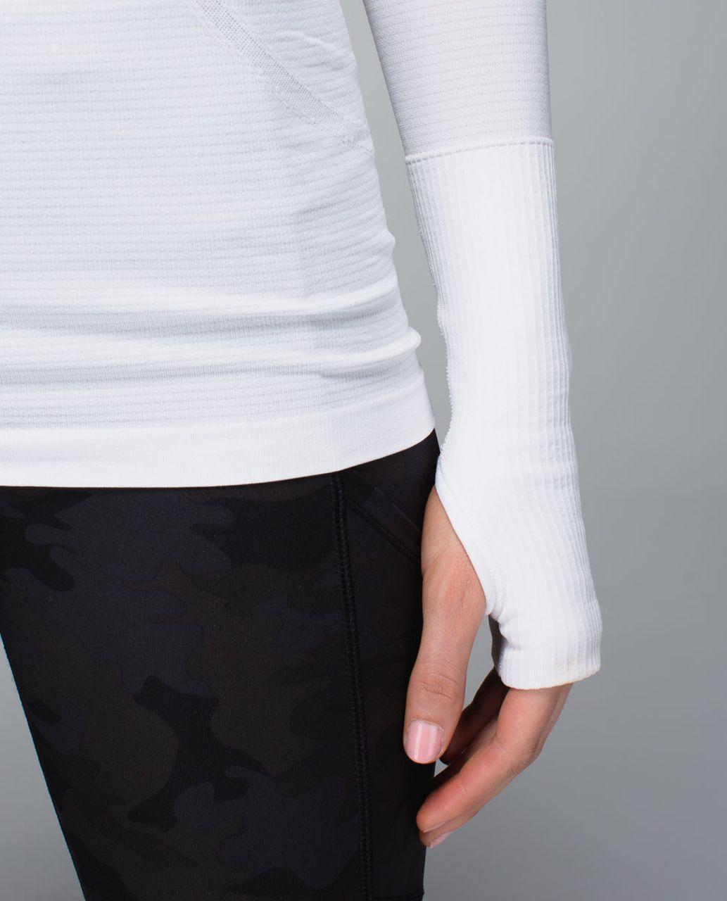 Lululemon Run:  Swiftly Tech Long Sleeve - Heathered White