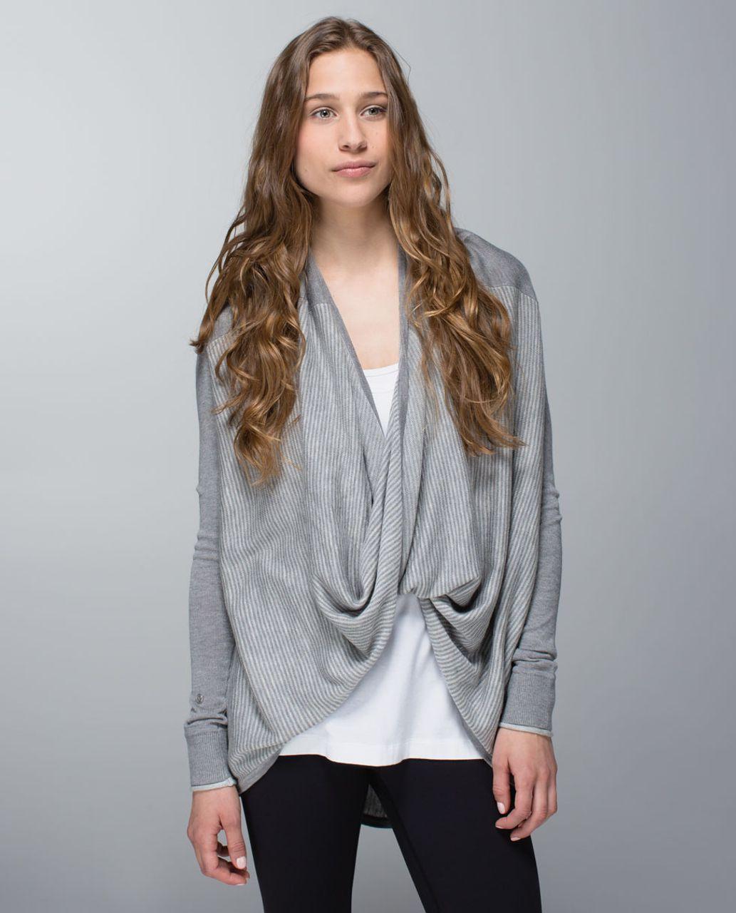705a61aa4c Lululemon Iconic Sweater Wrap - Heathered Medium Grey   Heathered Light Grey  - lulu fanatics