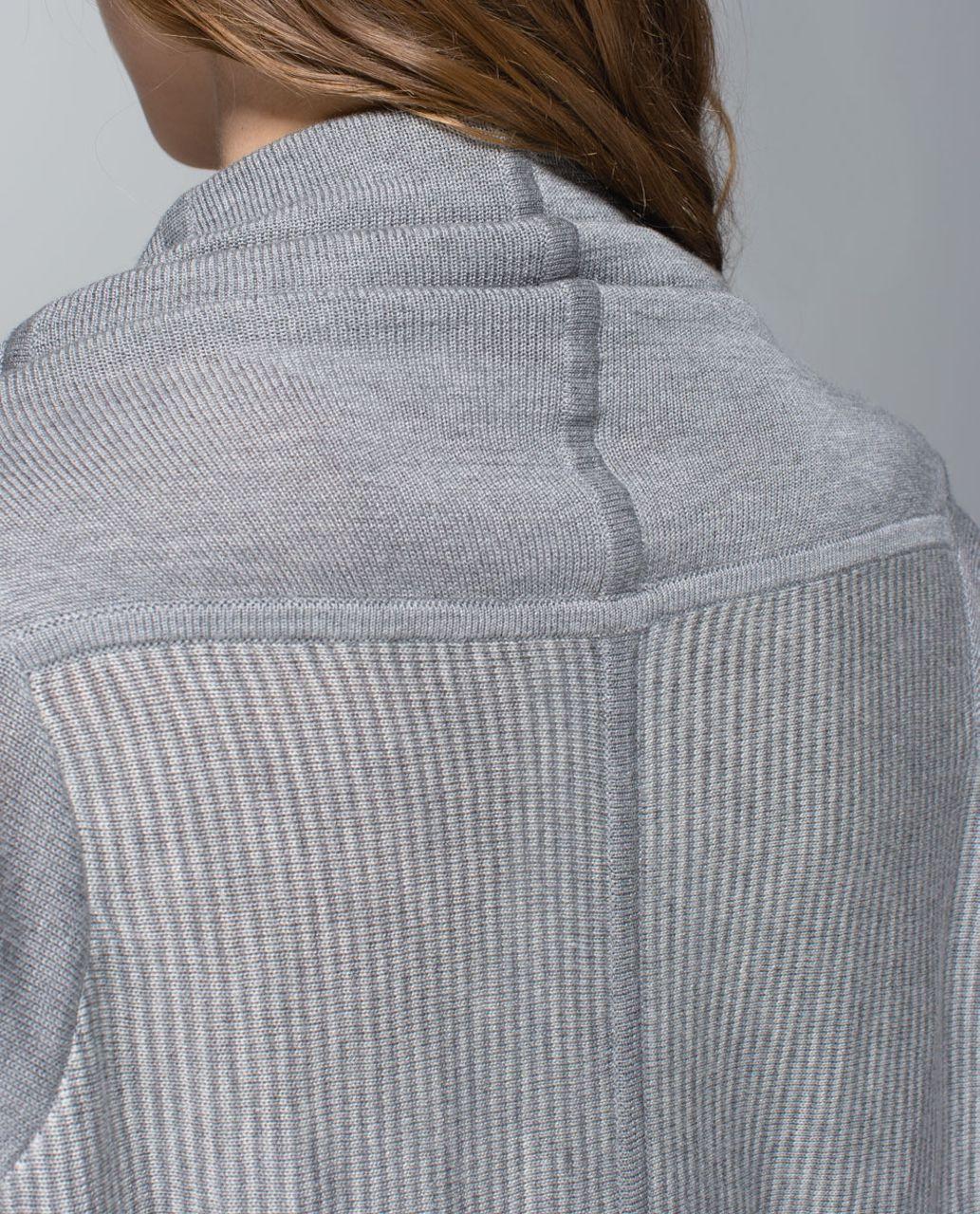 27e6f38dbf Lululemon Iconic Sweater Wrap - Heathered Medium Grey   Heathered Light Grey