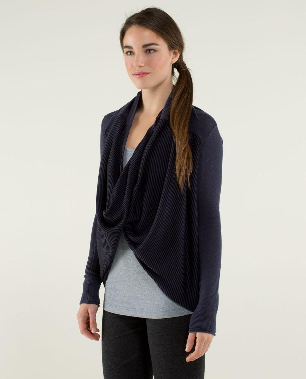 Lululemon Iconic Sweater Wrap - Cadet Blue / Black - lulu fanatics
