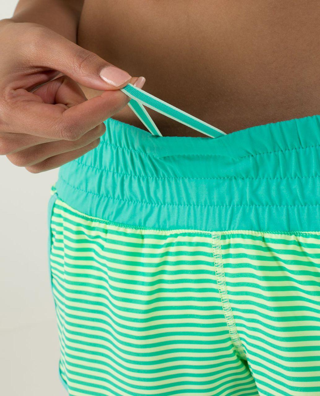 Lululemon Tracker Short II *4-way Stretch - 1 / 8 Stripe Printed Bali Breeze / Bali Breeze / Clear Mint