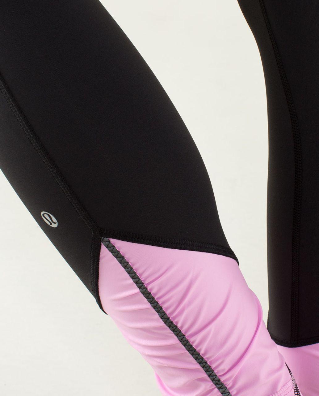 Lululemon Pace Queen Tight - Black / Vintage Pink