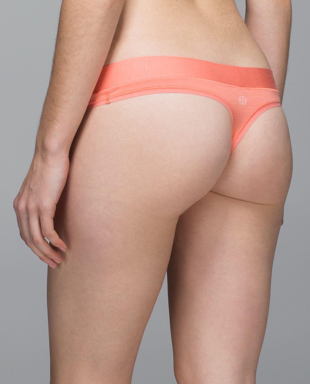 Lululemon Mula Bandhawear Thong - Plum Peach