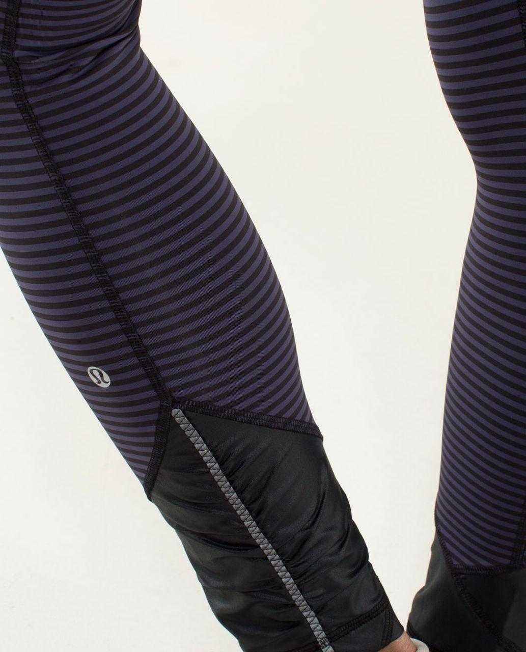 Lululemon Pace Queen Tight - 1 / 8 Stripe Cadet Blue / Black / Cadet Blue