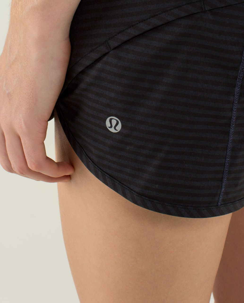 Lululemon Run:  Speed Short *4-way Stretch - 1 / 8 Stripe Cadet Blue / Cadet Blue