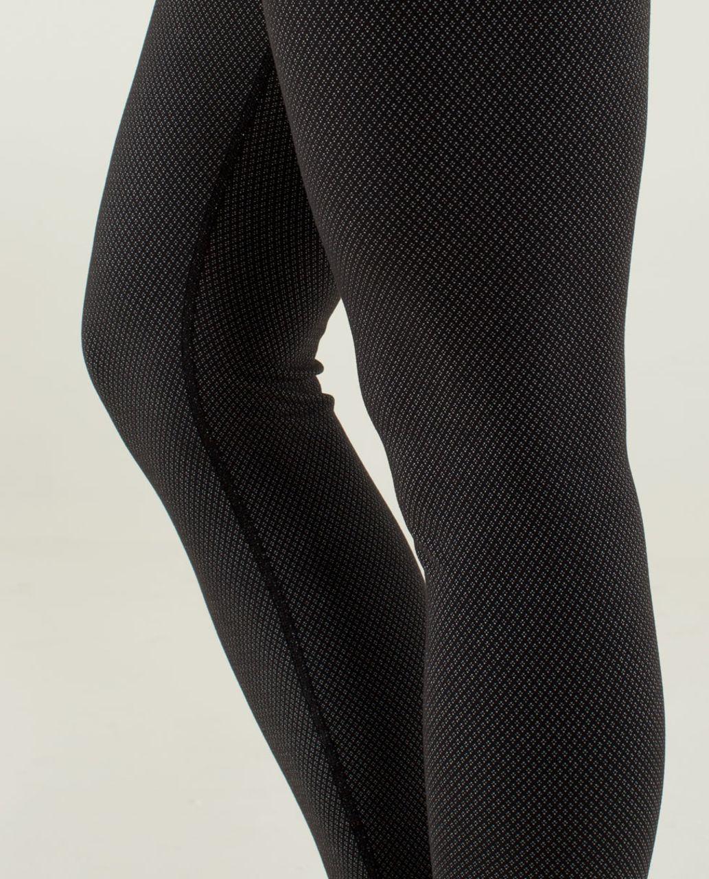 Lululemon Wunder Under Pant - Diamond Dot Black White / Black