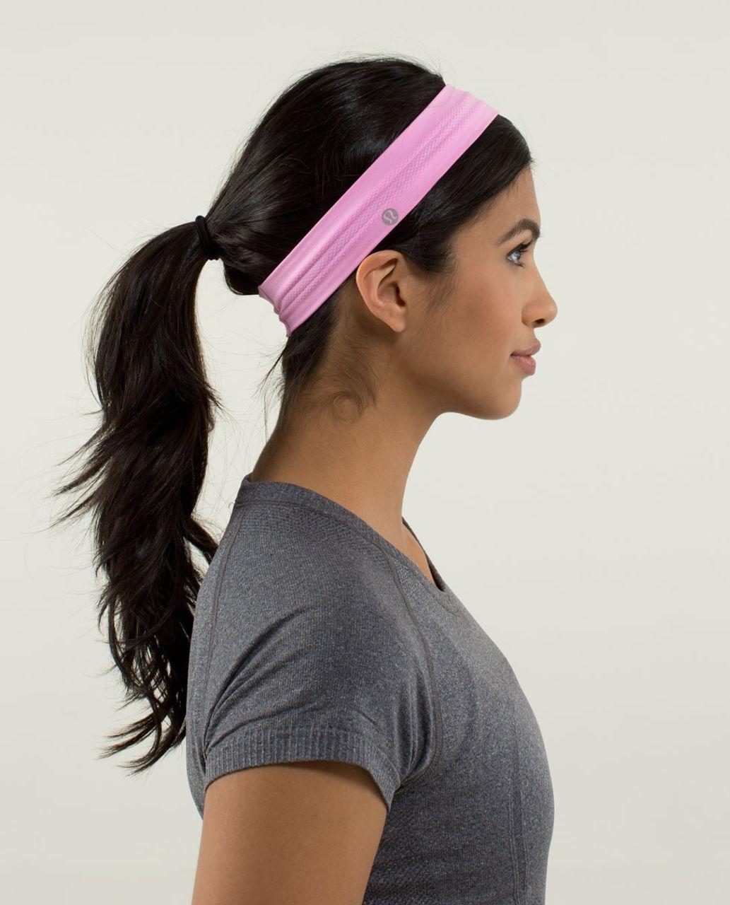 Lululemon Swiftly Headband - Heathered Vintage Pink