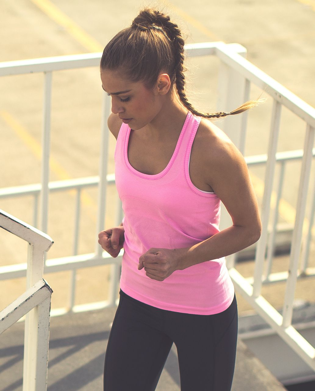 Lululemon Run:  Swiftly Tech Racerback - Heathered Vintage Pink