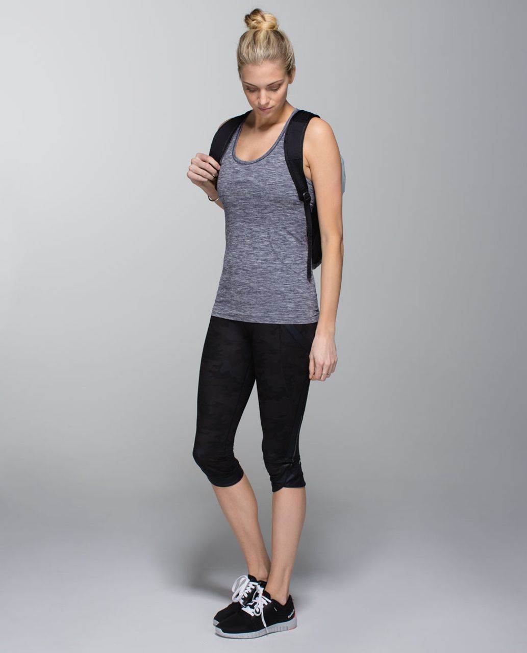 Lululemon Run:  Swiftly Tech Racerback - Heathered Cadet Blue (First Release)