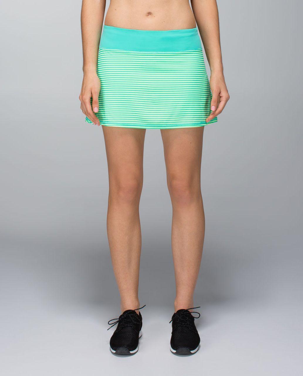 Lululemon Run:  Pace Setter Skirt (Regular) *4-way Stretch - 1 / 8 Stripe Printed Bali Breeze / Bali Breeze