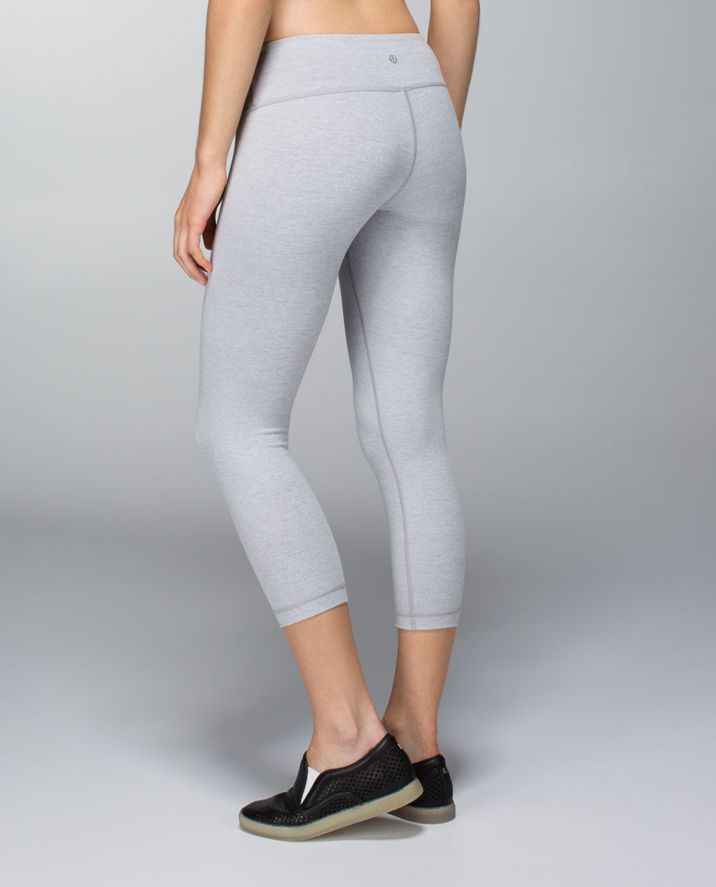 Lululemon Wunder Under Crop - Heathered Medium Grey