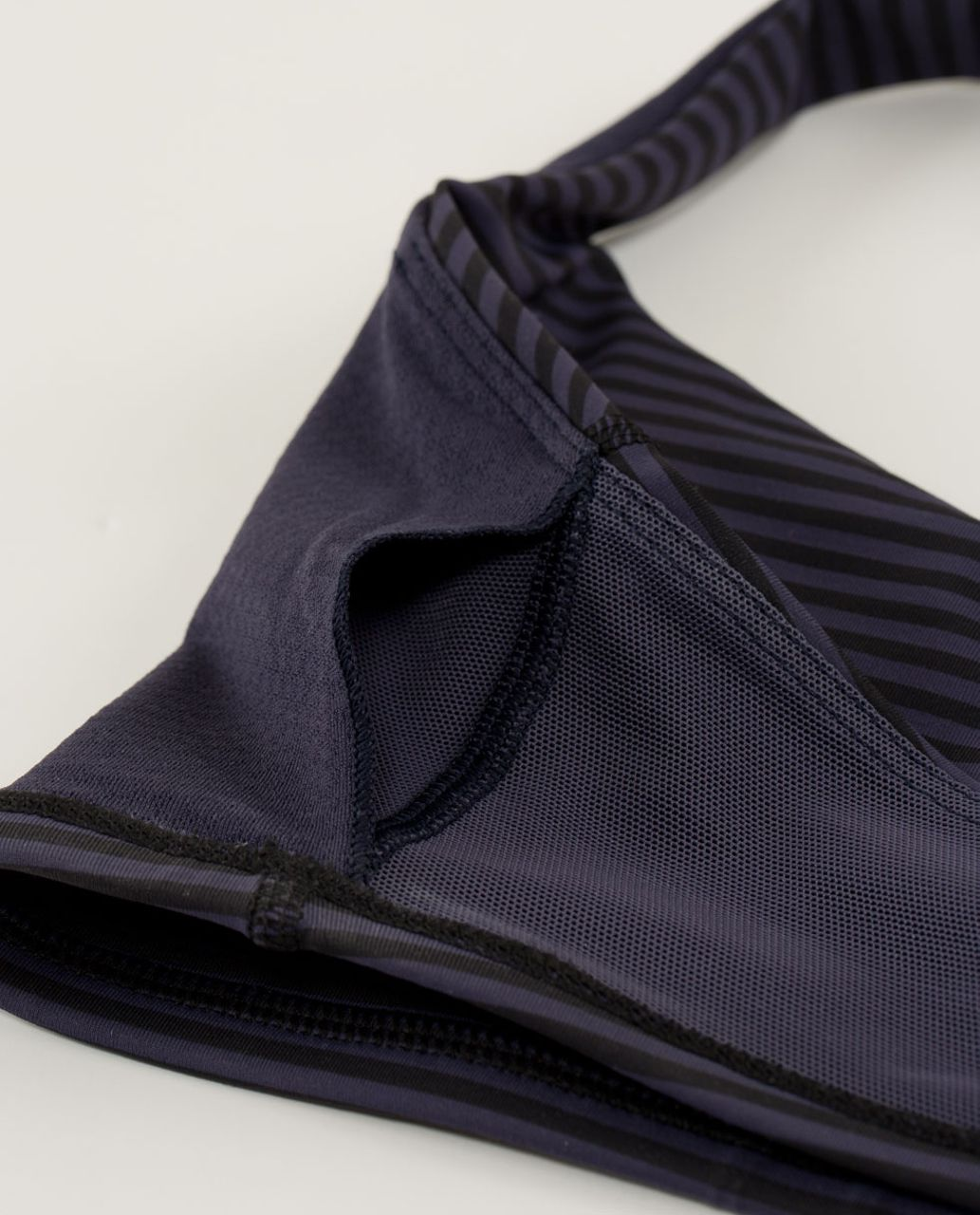 Lululemon Free To Be Bra - 1 / 8 Stripe Cadet Blue / Cadet Blue / Black
