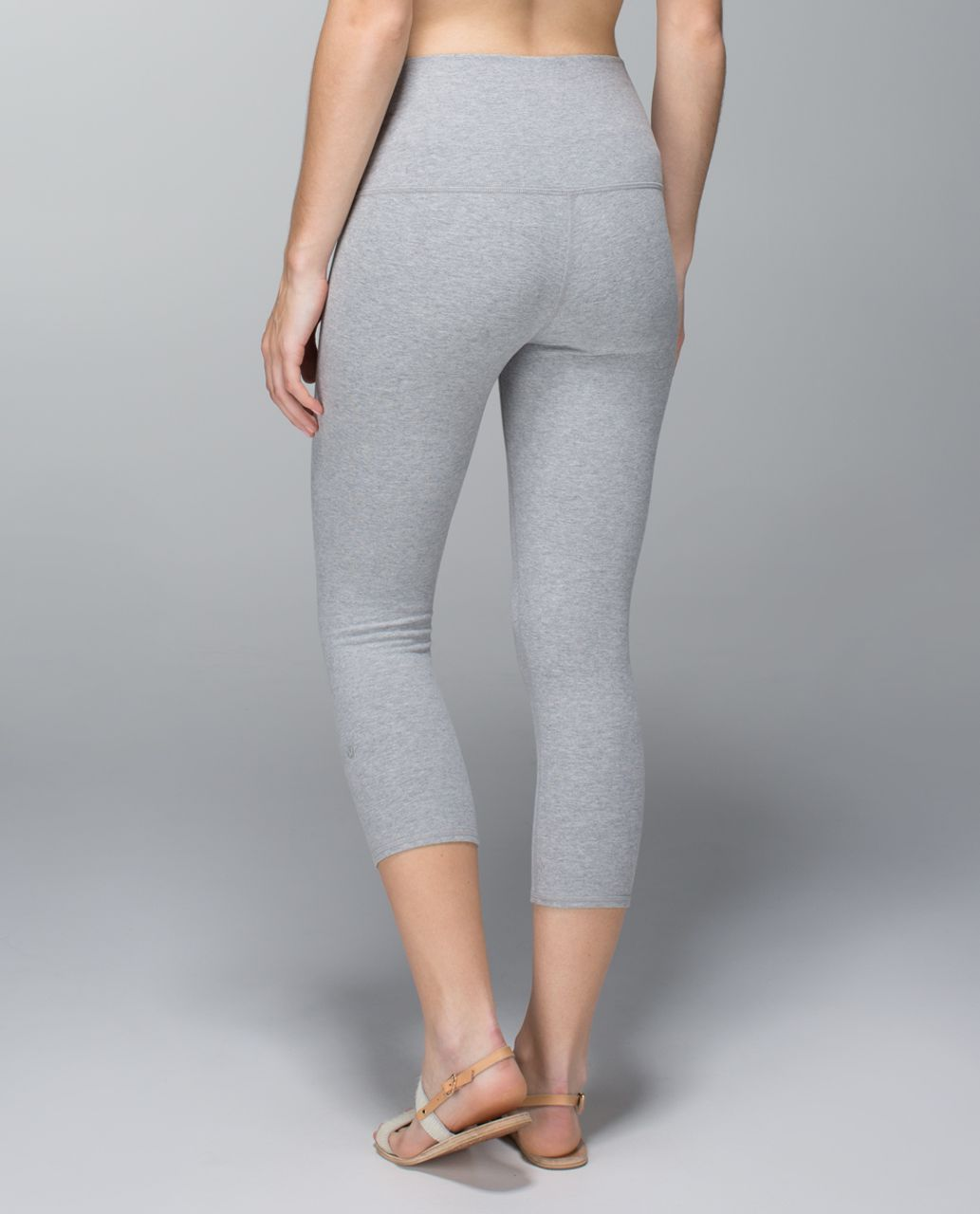 Lululemon Wunder Under Crop *Roll Down - Heathered Medium Grey