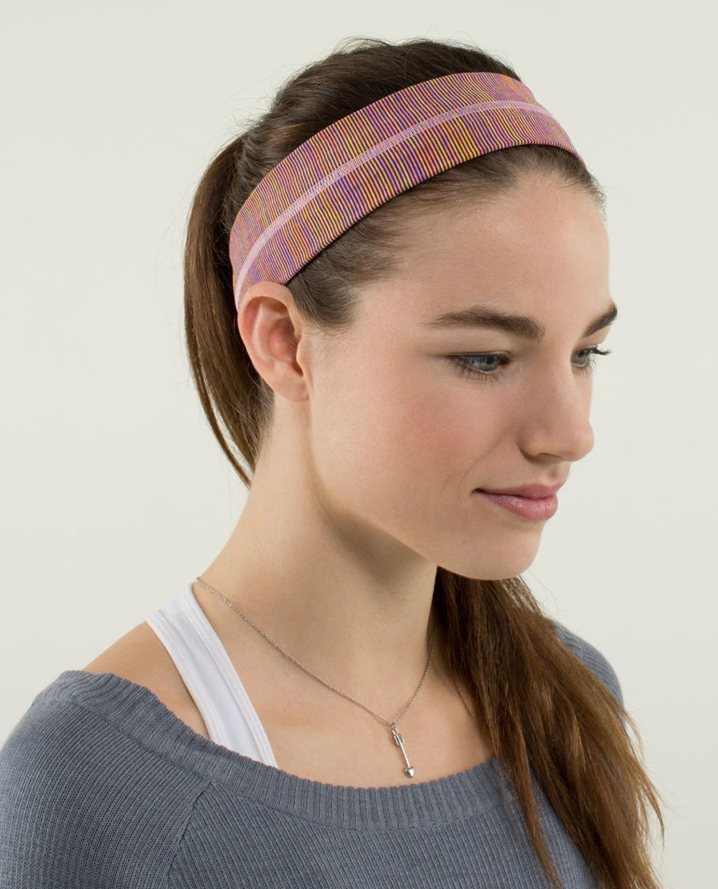 Lululemon Fly Away Tamer Headband - Wee Are From Space Vintage Pink