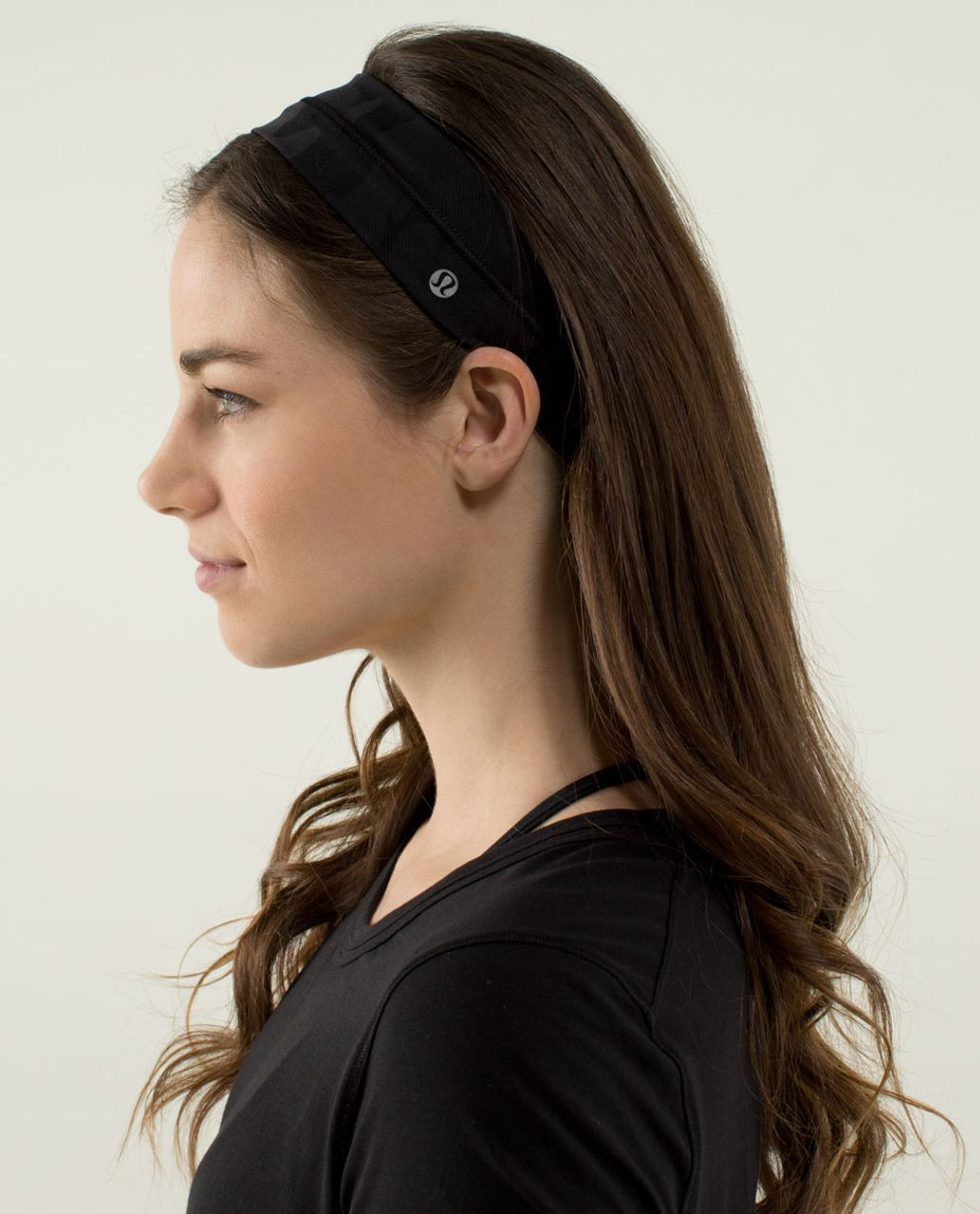 Lululemon Fly Away Tamer Headband - Savasana Camo 20cm New Black